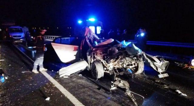 Tır ile otomobil çarpıştı: 1 ölü