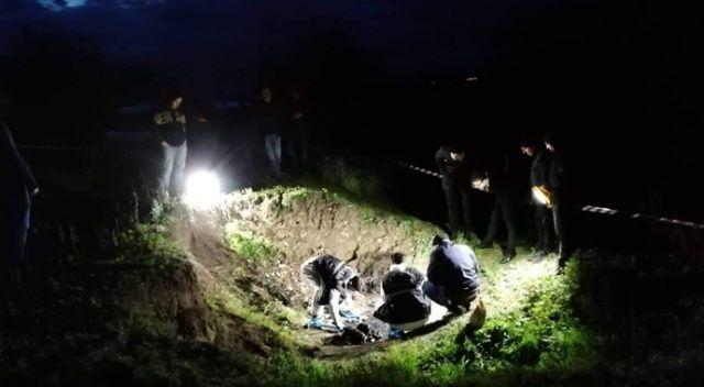 Tokat'ta yakılmış insan kemikleri bulundu