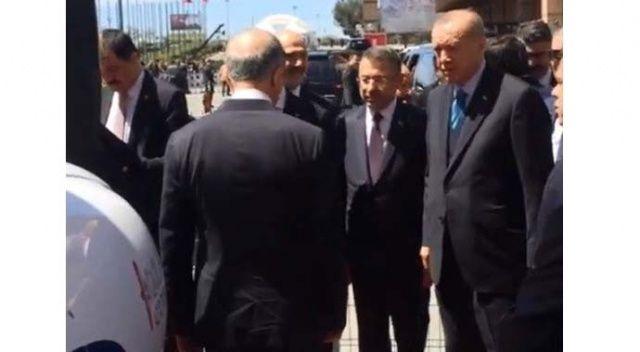 Türk kartalı Aquila Cumhurbaşkan'ı Erdoğan'ın ilgi odağı oldu