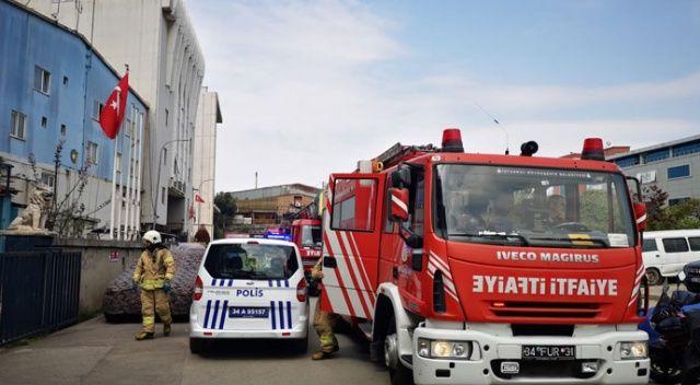 Tuzla'da bir tersanedeki gemide yangın çıktı
