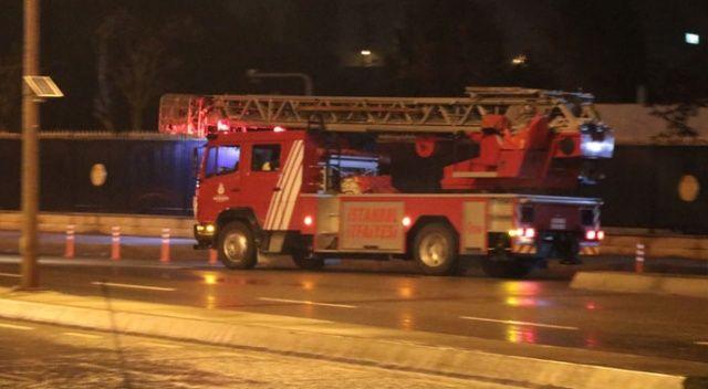 Tuzla'da piyade okulunda korkutan  yangın