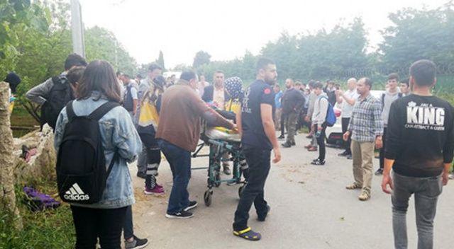 Büyükçekmece'de 'drift' terörü: 7 öğrenci yaralı