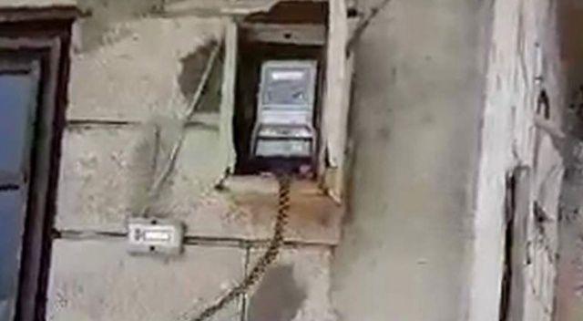 Evin elektrik panosuna giren yılan korkuttu