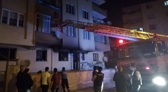 İnegöl'de 5 katlı binada yangın çıktı