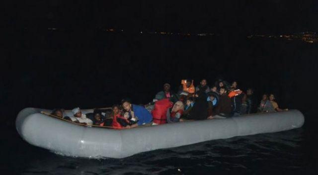 Kuşadası 2 ayrı operasyonda 38'i çocuk 79 kaçak göçmen yakalandı