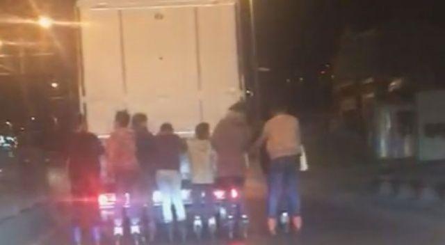 Sultangazi'de 8 patenli gencin tehlikeli yolculuğu