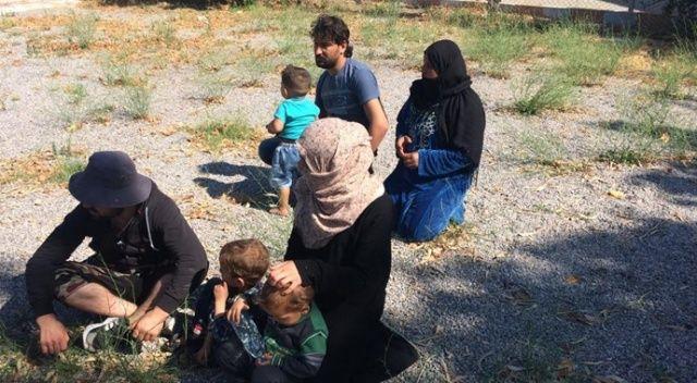 Ayvalık'ta 45 kaçak göçmen yakalandı