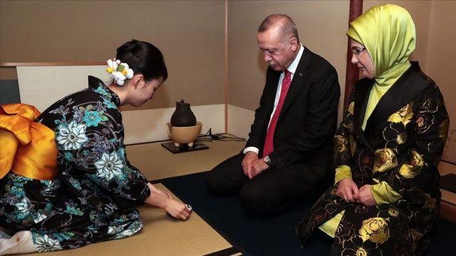 Cumhurbaşkanı Erdoğan çay seremonisine katıldı