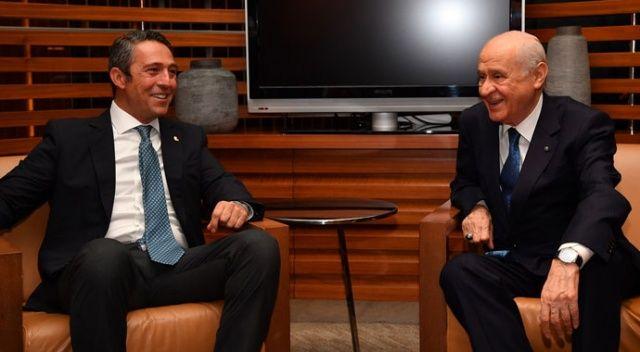 Fenerbahçe Başkanı Koç'tan MHP lideri Bahçeli'ye ziyaret