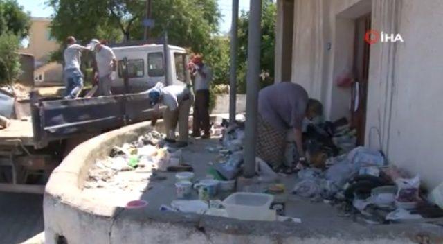 KKTC'de çöp eve belediye çalışanlarından müdahale