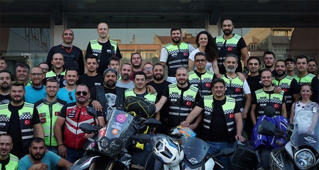 Motorcu dostları Bursa'da buluştu