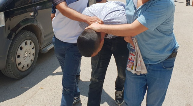 Sahte polise dilenci kılığında operasyon