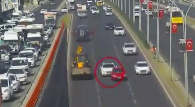 Trafikte makas atan sürücüye bin 2 TL ceza