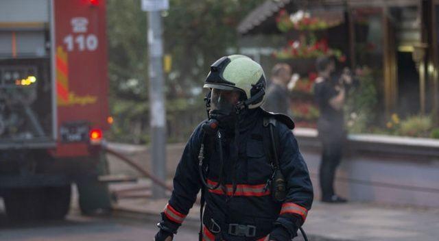 Çankaya'da korkutan kafe yangını