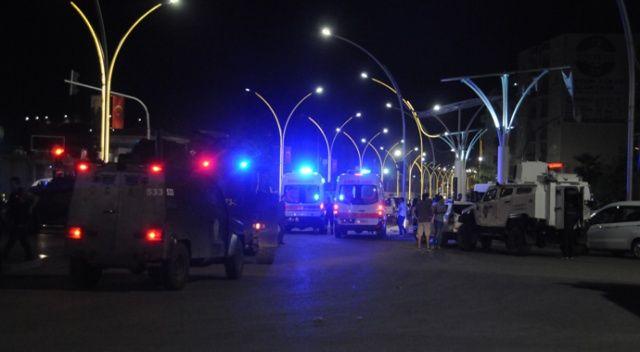Cizre'de devriye gezen mahalle bekçilerine bombalı saldırı
