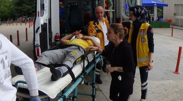 Çocuğuna araba çarpan anne göz yaşlarına boğuldu