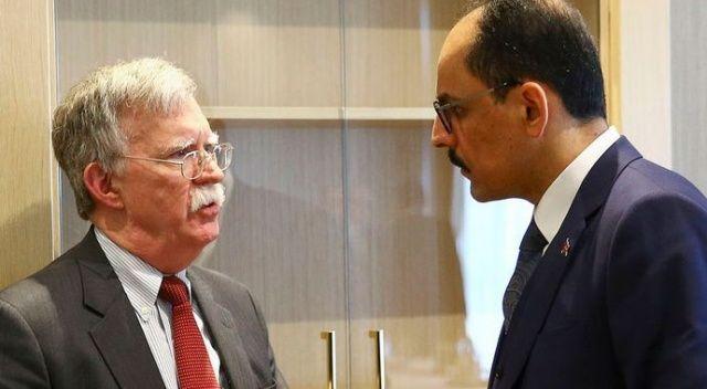 Cumhurbaşkanlığı Sözcüsü Kalın ile John Bolton telefonda görüştü