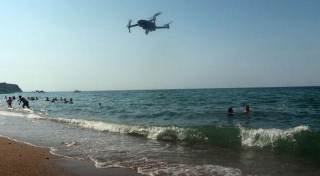Deniz ve plajlarda drone ile denetim başladı