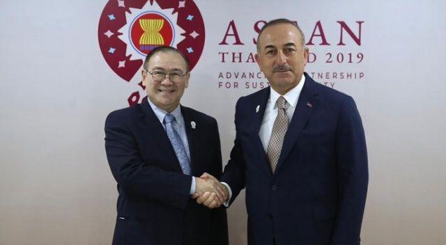 Dışişleri Bakanı Çavuşoğlu Filipinli mevkidaşı ile görüştü