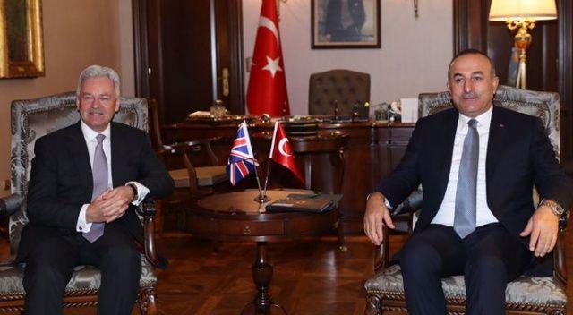 Dışişleri Bakanı Çavuşoğlu, İngiliz Bakan Alan Duncan ile görüştü