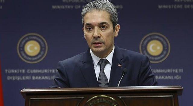 Dışişleri Bakanlığı Sözcüsü Aksoy'dan 'kıta sahanlığı' açıklaması