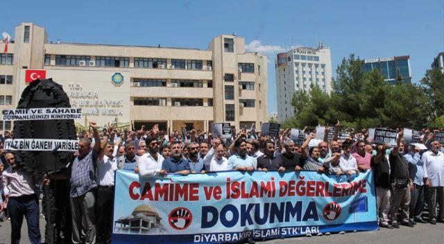 Diyarbakır'da cami yıkımı ve sahabe İyaz bin Ganem Caddesi isminin değiştirilme girişimine tepki