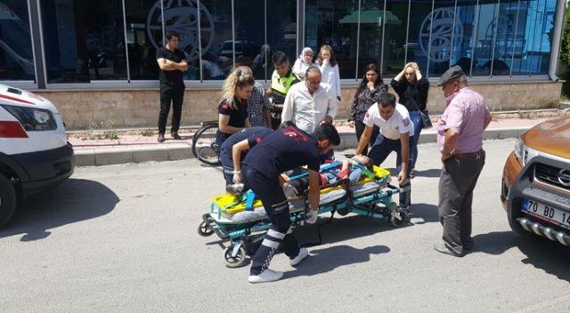 Kamyonetin çarptığı bisikletli kız çocuk yaralandı