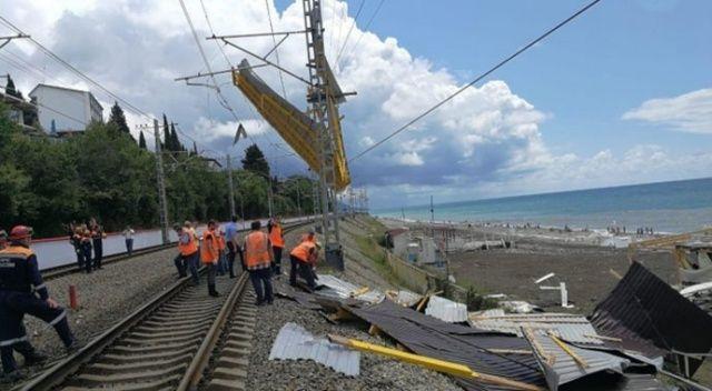 Karadeniz'de çıkan hortum Soçi'yi yerle bir etti