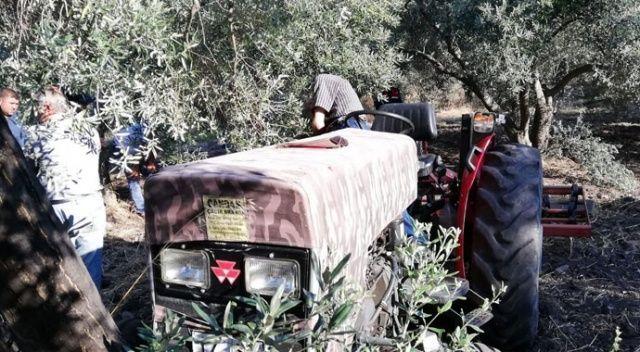 Korkunç! Zeytin ağacına sıkıştı, traktörün üzerinde ölü bulundu