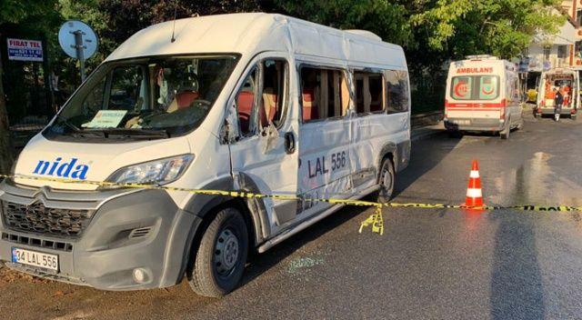 Sancaktepe'de halk otobüsü kaza yaptı: 1 ölü, 2 yaralı