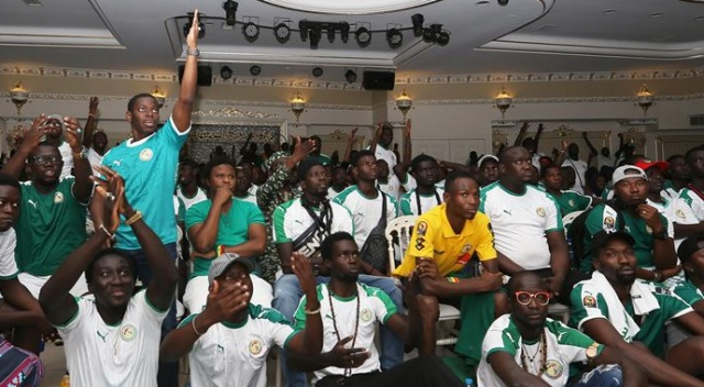 Senegalliler final maçını İstanbul'da takip etti