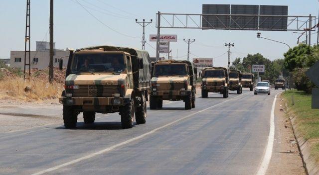 Sınıra 150 araçlık askeri sevkiyat
