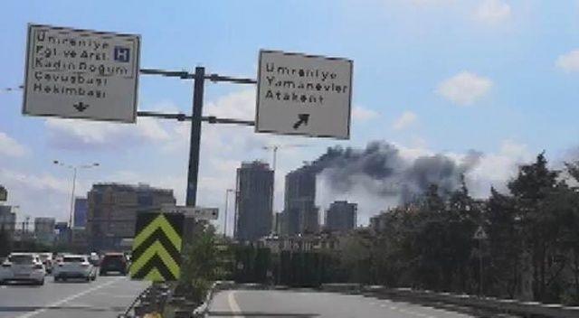 Ümraniye'de bir inşaat alanında yangın çıktı