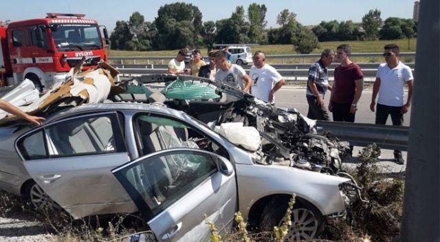 Balıkesir'deki kazada 5 kişi yaralandı