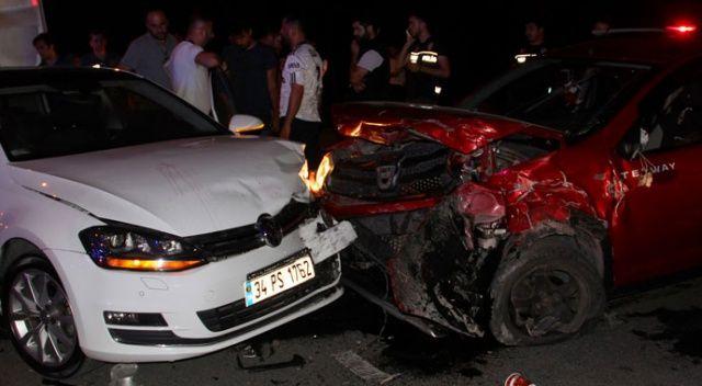 Başakşehir'de maç çıkışı taraftarlar kaza yaptı: 4 yaralı