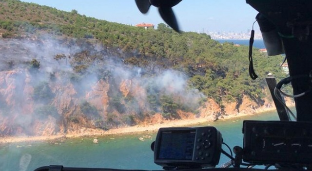Burgazada'da orman yangını kontrol altına alındı