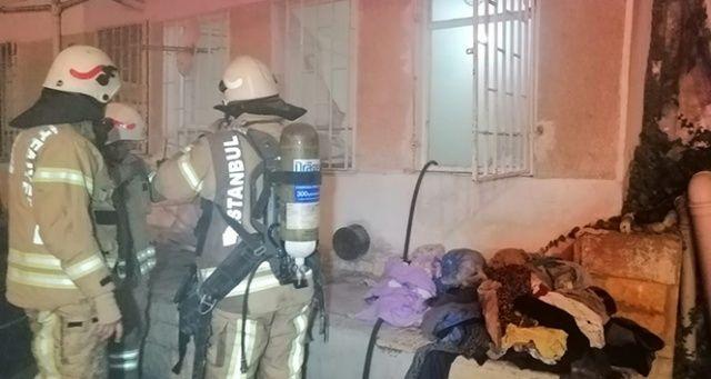 Çakmak gazı yüzünden bir daire kül oldu
