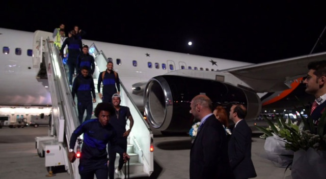 Chelsea takımı İstanbul'da