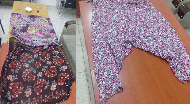 Cinayet zanlısı, kadın elbisesi giyinmiş şekilde yakalandı