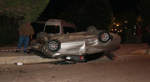 Denizli'de otomobiller çarpıştı: 2 yaralı