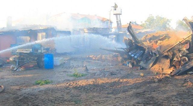 Edirne'de yangında 3 ev kül oldu