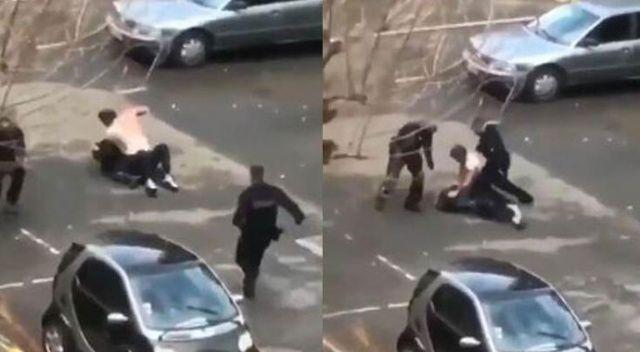 Fransa bu görüntüyü konuşuyor! Önce sivil polis, ardından üniformalılar dövdü