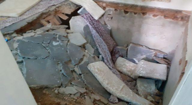 Gaziantep'te ev çöktü: 6 yaralı
