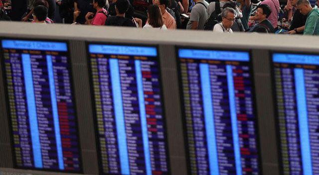 Hong Kong Uluslararası Havalimanı'nda uçuşlar tekrar durduruldu