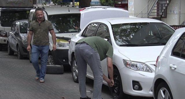 İstanbul'da park halindeki 10 aracın lastikleri kesildi