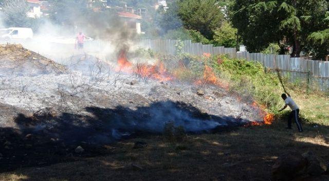 Kartal'da ormanlık alanda yangın