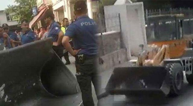 Kepçeyi ve polis memurunu kaçırdı! Sebebini duyanlar şaştı