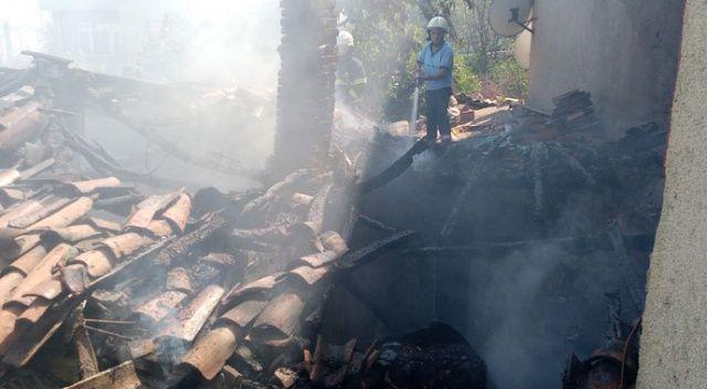 Kıbrıs Gazisi'nin evi alev alev yandı
