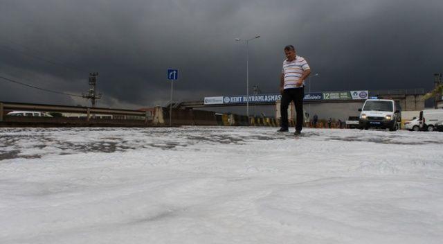Kocaeli'de yolu kaplayan köpüğün ardından kaçak deterjan imalatı çıktı