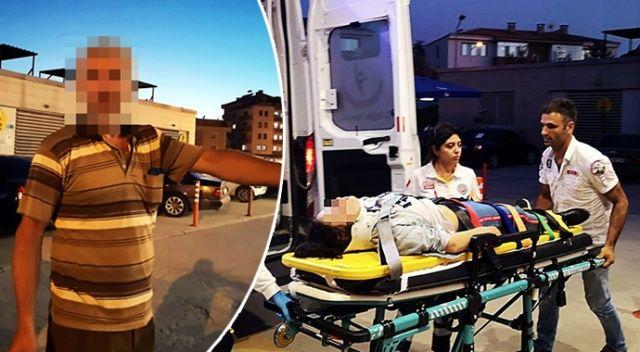 Öfkeli baba, kazadan burnu bile kanamadan kurtulan kızını döverek hastanelik etti